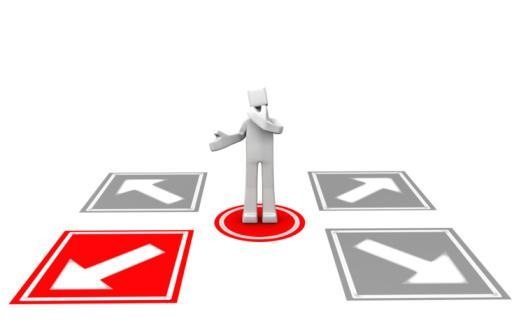 Making decision concept